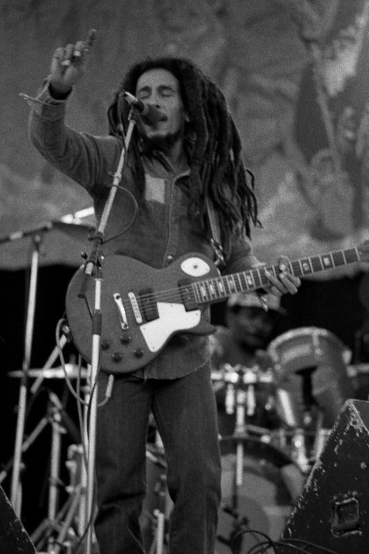 Bob Marley live in concert in Dalymount Park on 6 July 1980.