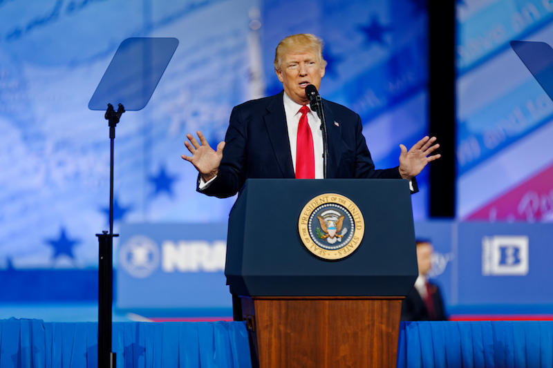 President Donald Trump at CPAC 2017 February 24th, 2017.