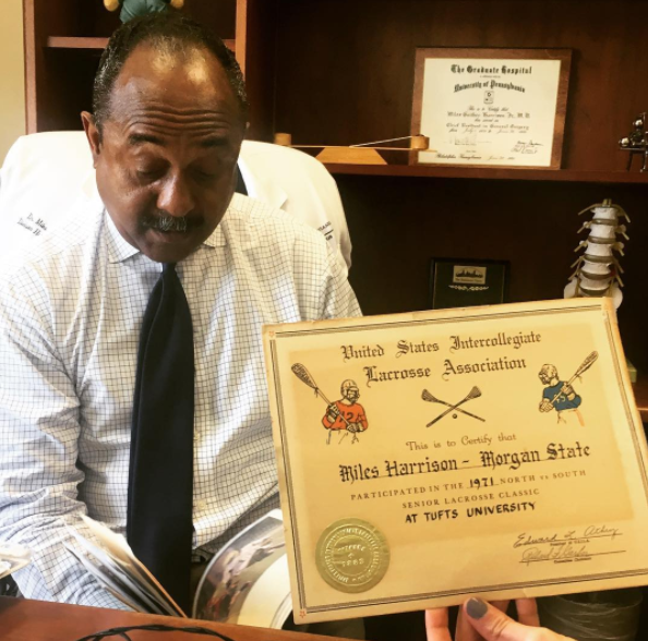 Dr. Miles G. Harrison Jr, author of Ten Bears, the story of Morgan State's historic 1970s lacrosse team.