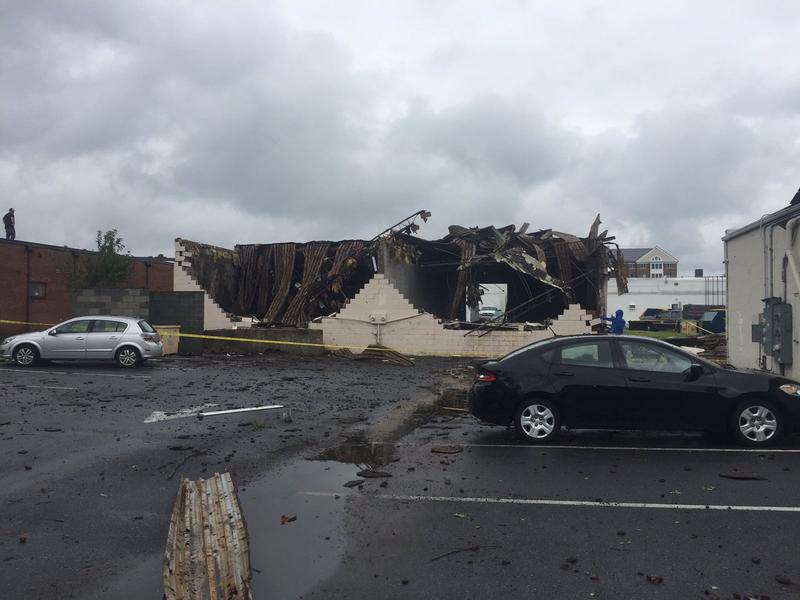 Possible Tornado Damage in Salibury, MD