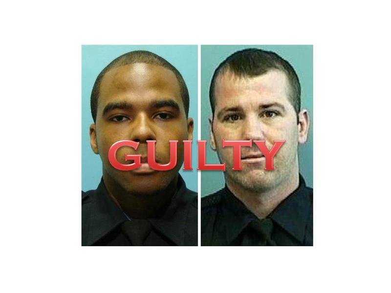 (l-r) Baltimore Police Detectives Marcus Taylor and Daniel Hersl