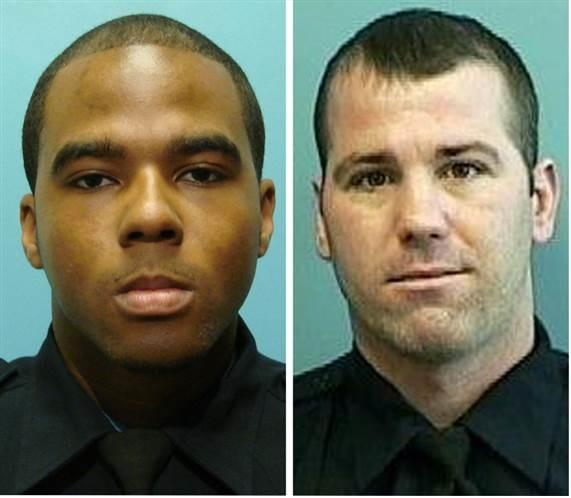 (l-r) Former Baltimore Police Officers Marcus Taylor and Daniel Hersl