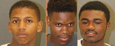(L-R) Andre Simms, Qwante Jackson, Shazcarl Henderson