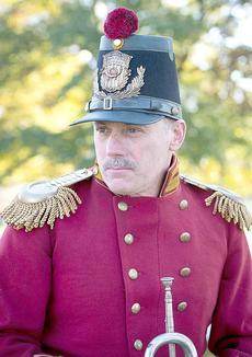 Don Johnson is pictured at Dedication Day, Nov. 19, at Gettysburg. He is wearing a uniform modeled after uniforms worn by the United States Marine Band during the Civil War era. This is the same uniform he and other members of President Lincoln's Own wore in the movie