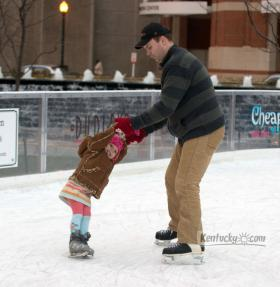 Ice Skaters enjoy the Unified Trust Ice Rink in Triangle Park, Lexington, KY on Sunday, November 25.