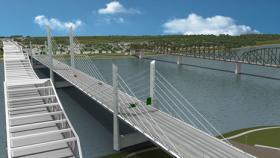 The planned downtown bridge.