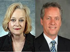 State Sen. Kathy Stein and Mayor Greg Fischer