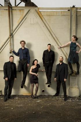 Eighth blackbird consists of, from left, Nicholas Photinos, cello; Tim Munro, flutes; Yvonne Lam, violin and viola; Matthew Duvall, percussion; Michael J. Maccaferri, clarinets; and Lisa Kaplan, piano