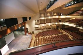 Interior of the theater at the EKU Center for the Arts in Richmond.