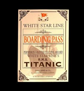 Each exhibit visitor will receive a replica of a Titanic boarding pass with the name of a real passenger on it.