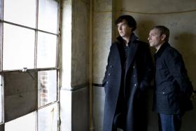 The wildly popular Masterpiece Mystery series places Sherlock Holmes (Benedict Cumberbatch, left) and Dr. Watson (Martin Freeman) in the 21st century.