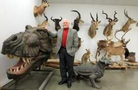 Michael Zovath, senior vice president and co-founder of the Ark Encounter, in the collection room of Answers in Genesis with animals whose ancestors he said would have been on Noah's Ark. The company plans to build 510-foot-long replica of Noah's Ark on a site in Grant County. The project is being planned by Answers in Genesis, the organization that built the Creation Museum in Boone County.