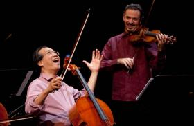 Yo-Yo Ma and Colin Jacobsen during the 2011 North American tour