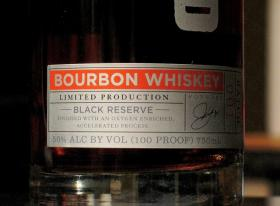 A close-up of the Cleveland Whiskey label. It debuted in early March across Northeast Ohio