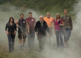 The new reality show Guntucky features the Sumner family of Bullitt County. Among them are Biff, center; Steven, third from right; Stephanie, second from right; and Payton, right.