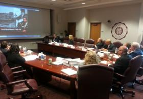 After selecting new president, regents watch video introducing Dr. Michael Benson to EKU.