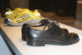Shoes from Nelson Mandela and Laila Ali