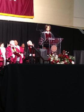 First Lady Michelle Obama, as she honors veterans programs at EKU.