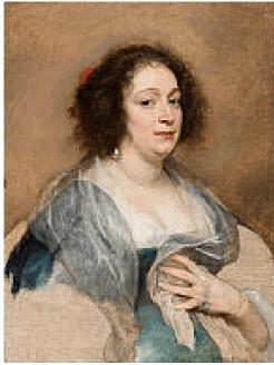 """The Art Museum at the University of Kentucky.ANTHONY VAN DYCK, Flemish, 1599-164, """"Portrait of a Woman,"""" Oil on canvas."""