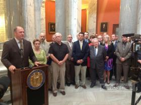 House Republican leader Jeff Hoover unveils House GOP plan for redistricting.