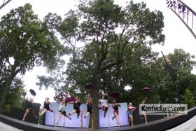 The oak tree where the Ballet Under the Stars and Lexington Shakespeare Festival take place was struck by lightning recently and will have to come down after Ballet Under the Stars on Tuesday July 30, 2013 in Lexington, Ky.