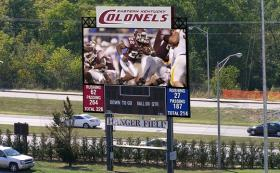 The new video board will debut on Thursday, Aug. 29 in EKU's home opener against Robert Morris.