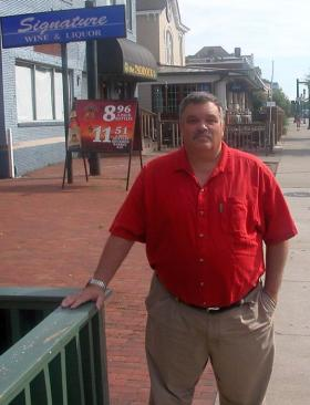 Mike Razor, Executive Director of Enforcement with ABC, outside a Lexington watering hole.