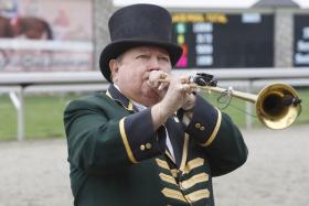 Keeneland bugler Bucky Sallee.