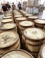 Barrels arrive for 2013 Bourbon Barrel Art Project.