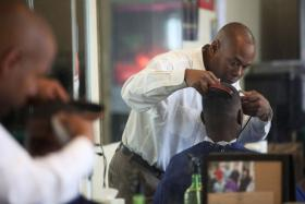 Anthony Hayden, owner of the Lexington Academy of Barbering.