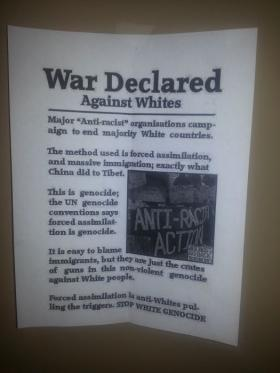 Racist flyer found posted in classroom buildings at Eastern Kentucky University.