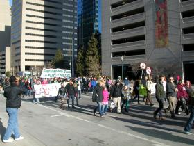 Lexington's Martin Luther King Day march makes its way down Vine Street