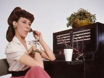 """One ringy dingy."" Lily's classic character from TV's ""Laugh In,"" Ernestine the telephone operator"