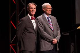 "Bill Nye, ""The Science Guy"" and Creation Museum founder and CEO Ken Ham debated the topic ""Is Creation a Viable Model of Origins?"" February 4, 2014"