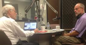 Eastern Standard host John Hingsbergen speaking with Dr. Richard Cahill.