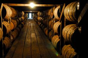 Aging bourbon at Buffalo Trace Distillery in Frankfort.