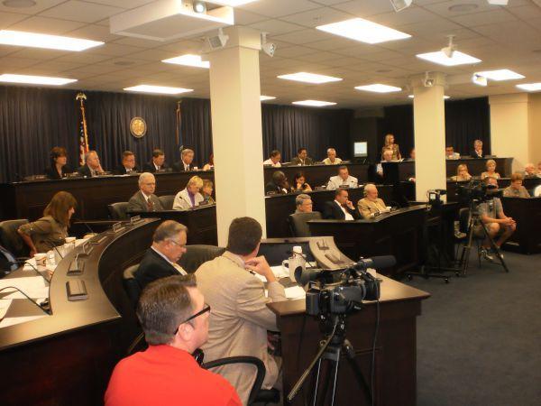 Members of the Interim Legislative Budget Committee meeting Thursday in Frankfort
