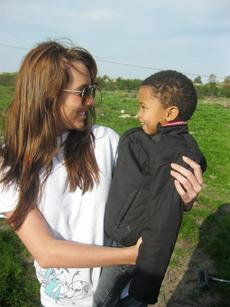 Josette Taylor of Springfield worked with children in Africa as she spent a month there this summer.