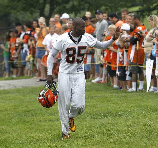 Chad Ochocinco waved as he ran onto the field for the start of the Bengals' training camp last year in Georgetown.