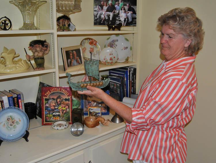 Pat Baker keeps momentos from her trips to Norway on display in her Mercer County home.
