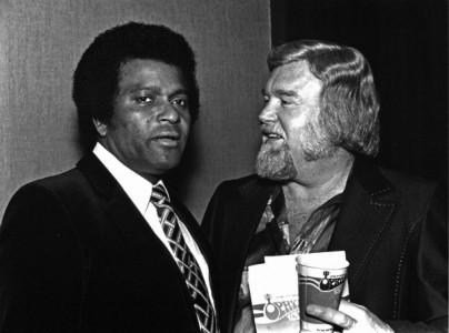 "Charley Pride and Ben Peters, the writer of ""Kiss An Angel Good Morning"""