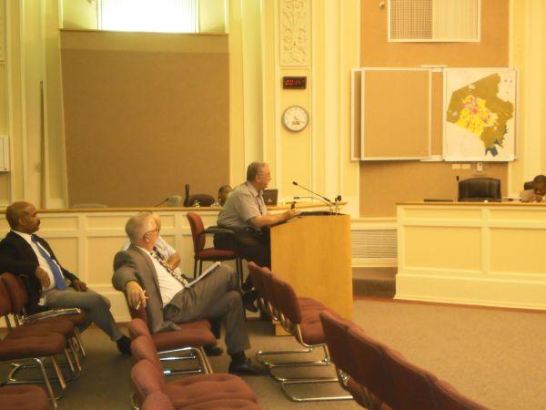 Interim Fayette County Detention Center Director Ray Sabbatine before the Urban County Council Tuesday