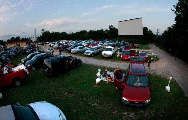 On July 15, opening night of Harry Potter and the Deathly Hallows, Part 2, moviegoers arrived early at Winchester's Sky-Vue Twin Drive-In. First-run movies are the norm now at drive-ins.