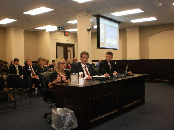 Commonwealth's Attorneys from left to right:  Lynn Prior, Chris Cohron, Jackie Steele testifying in Frankfort