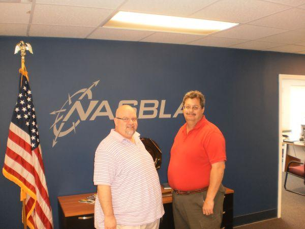 National Association for State Boating Law Administrator Deputy Director, Ron Sarver on left with Mike Fields, Kentucky's boating law administrator.