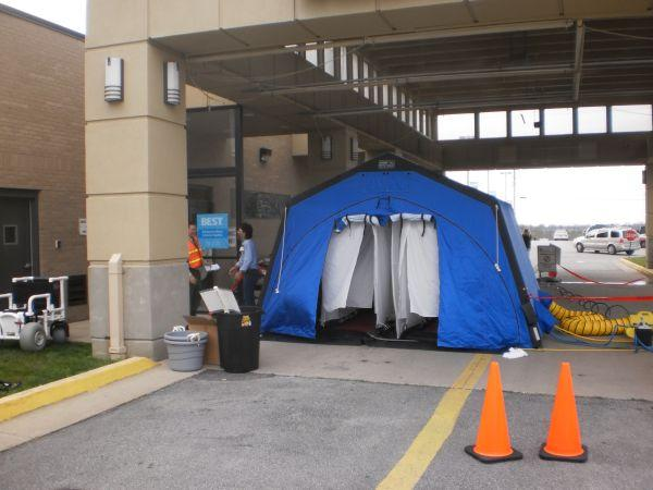 Decontamination Tent at Patti A. Clay Hospital