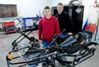 Jason Dunn, 26, right, and his younger brother, Brandon, 21, have been racing go-karts professionally since the early `90s.