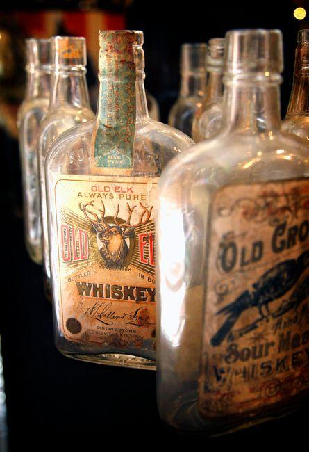 Whiskey bottles were part of a Prohibition exhibit at the Lexington History Museum.