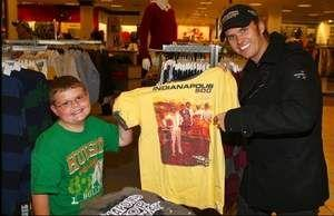 Dan Wheldon, reigning Indianapolis 500 champion, recently took contest winner Trey Taylor, 8, of Clifton, on a $500 IZOD shopping spree at the Florence Mall Macy's. Trey also spent time with Wheldon at the IndyCar series race at Kentucky Speedway.