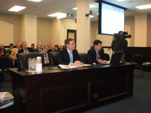 Lexington Mayor Jim Gray Speaking Before a Legislative Committee at the State Capitol
